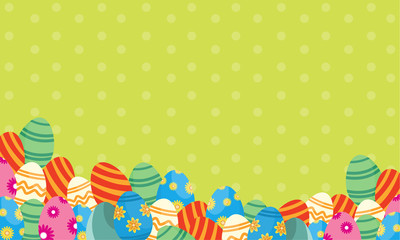 Greeting card easter with eggs style