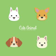 Dog Cartoon faces