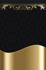 Black and gold vintage background.