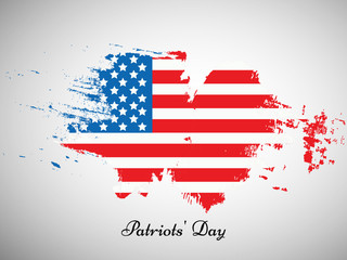 illustration of Patriots Day Background