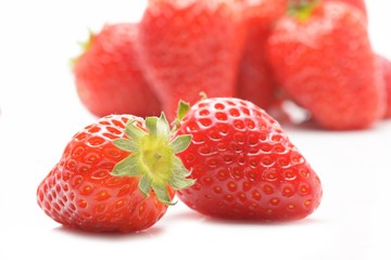 Wall Mural - strawberry isolated on the white background