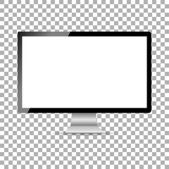 New stylish monitor with a white screen isolate on the background, vector illustration