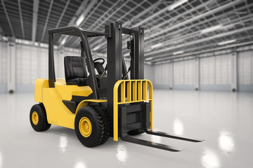 forklift truck in factory