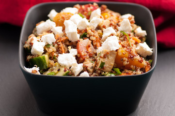 quinoa, beet and goat cheese salad