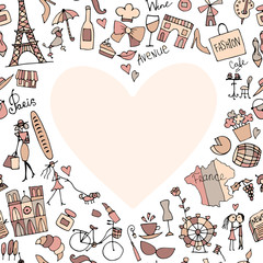 I love France. Sketch for your design