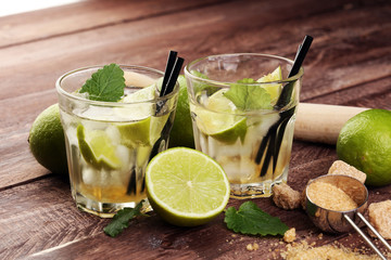Lemon Fruit Lime Caipirinha of Brazil