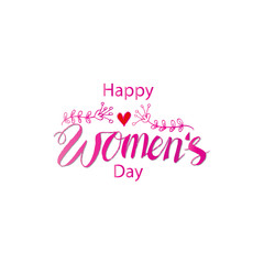 Hand lettering Women's Day