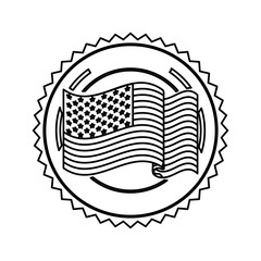 symbol american flag sign icon, vector illustration