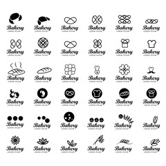 Bakery Icons Set Isolated On White Background-Vector Illustration,Graphic Design.Collection Of Black Symbols.For Web Site,App,Print,Presentation Template,Mobile Application And Promotional Material