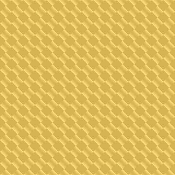 Luxury golden seamless pattern design. Gold square luxurious print for wrapping paper, apparel, clothing, gift boxes, etc. Vector repeatitive geometric background.
