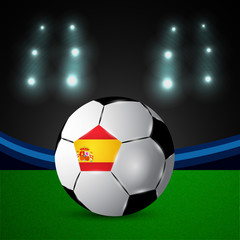 Illustration of Spain flag participating in soccer tournament
