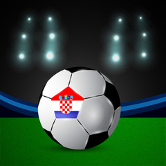 Illustration of Croatia flag participating in soccer tournament