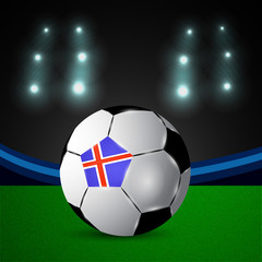 Illustration of Iceland flag participating in soccer tournament