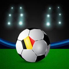 Illustration of Belgium flag participating in soccer tournament