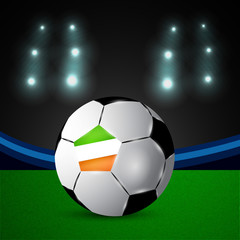 Illustration of Ireland flag participating in soccer tournament