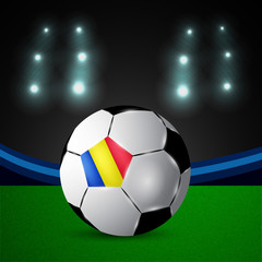 Illustration of Romania flag participating in soccer tournament