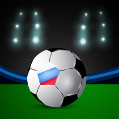 Illustration of Russia flag participating in soccer tournament