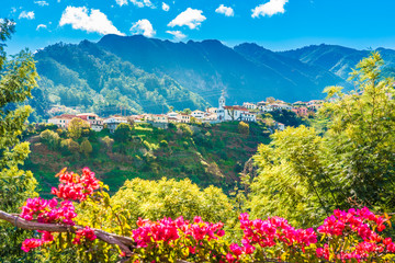 Mountain village in Madeira island, Portugal