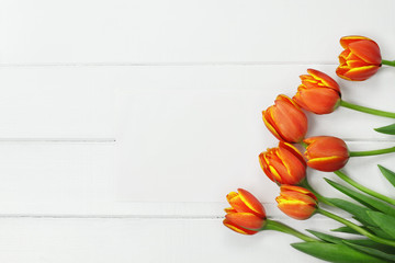 Orange Tulips and Blank Card