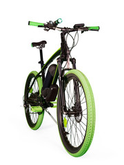 Electric bike on white with clipping path