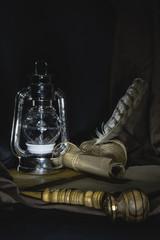 Low-key studio shot of a smoking pipe