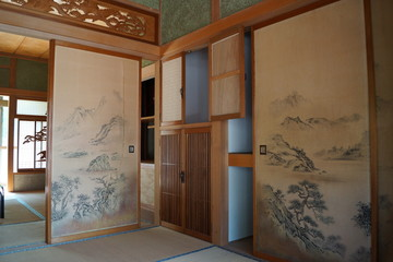 japanese style room fusuma panels