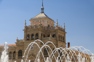Valladolid (Spain): fountain and palace