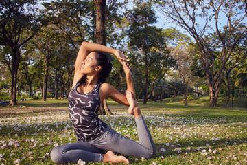 Yoga in city