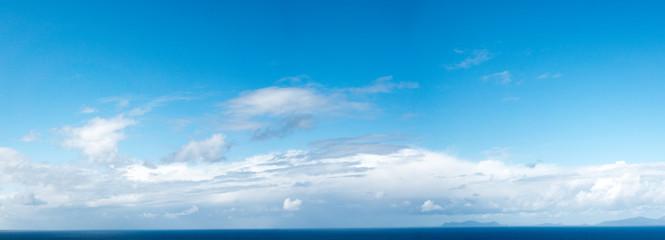 Summer sky panorama