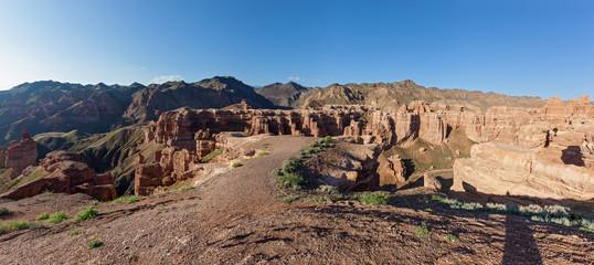 Charyn canyon in Almaty region of Kazakhstan.