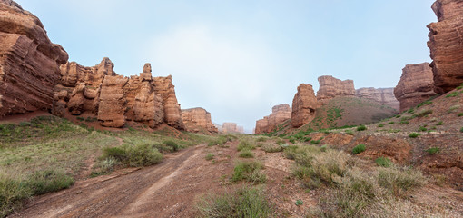 Charyn canyon in Almaty region of Kazakhstan.