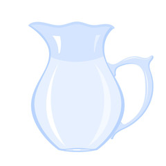 Vector image of a simple glass jar with water on a white background. Stock vector