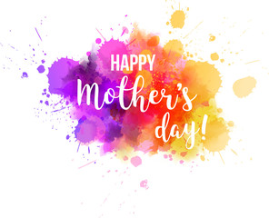 Mother's day watercolored background