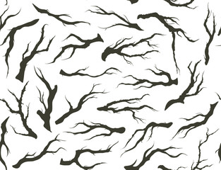 seamless pattern of tree branches