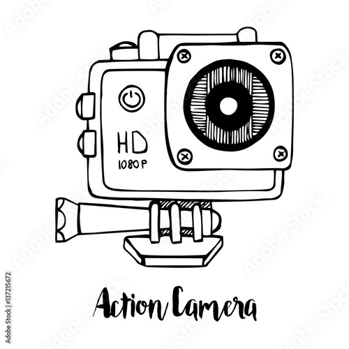 An action camera sketch