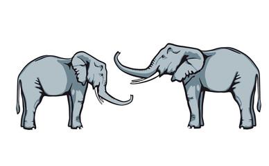 Elefanten vertrauen sich