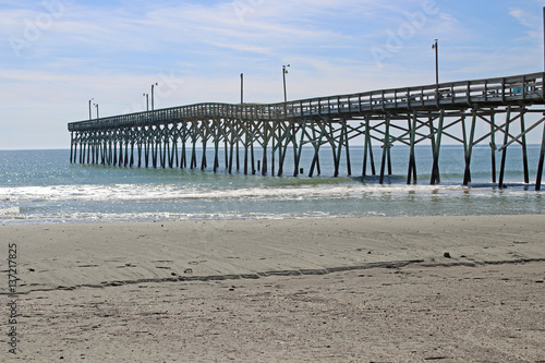 Fishing pier at holden beach north carolina immagini e for Holden beach fishing pier