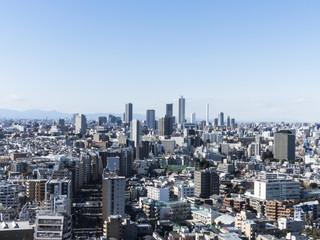 東京風景(文京区シビックセンターから池袋方面)