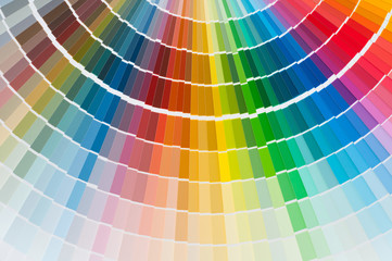 Color palette catalog, guide of paint samples