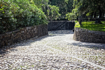 Cobblestone alley in the southern states