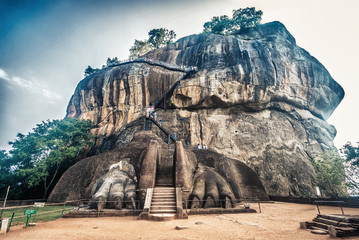 HDR photo of Sigiriya the rock fortress in Sri Lanka