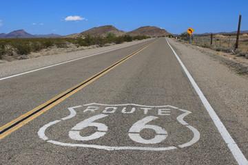 In de dag Route 66 Death Valley