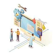 Database Isometric Illustration