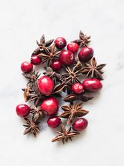 Goji berries, star anise