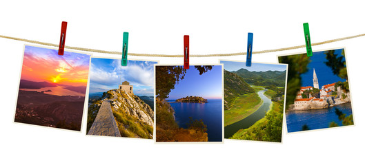 Montenegro travel images (my photos) on clothespins