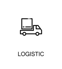Logistic flat icon