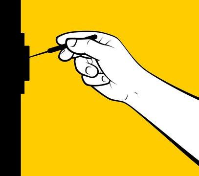 Lockpicking hand