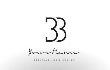 BB Letters Logo Design Slim. Creative Simple Black Letter Concept.