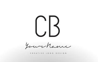 CB Letters Logo Design Slim. Creative Simple Black Letter Concept.