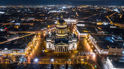 Saint Isaac's Cathedral in Saint Petersburg , Russia